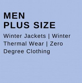 Men plus size clothing