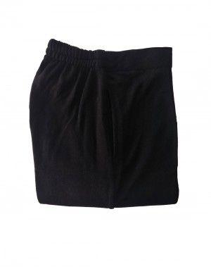 Womens woollen pants plain design black color