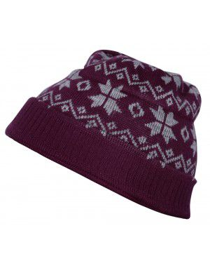 Acrylic Zig Zag With Flower Design Cap Maroon