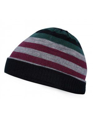 Acrylic Multi Color Stripes Cap For Unisex