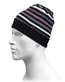 Acrylic Multi Stripes Cap Black