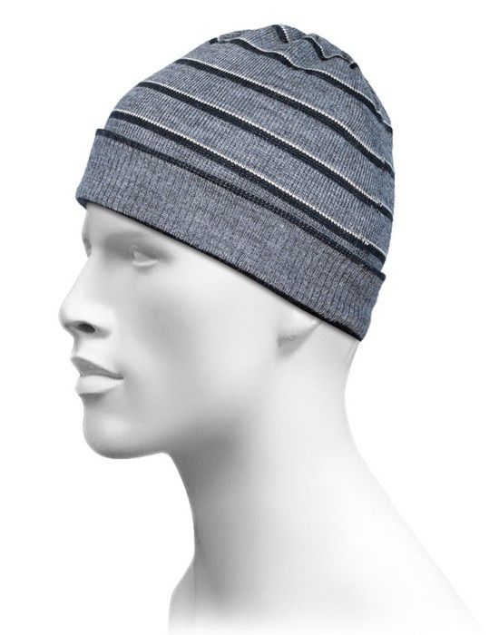 Acrylic Stripes Design Cap For Unisex Grey