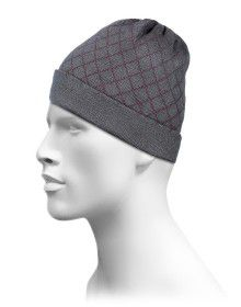 Acrylic Maroon Color Checks Cap For Unisex