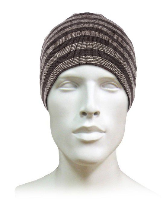 Acrylic Stripes Design Cap For Unisex brown