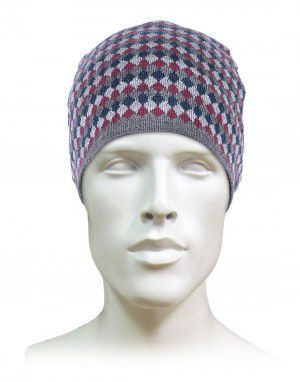 Acrylic Fisher Jacquard Multicolumn design Cap red