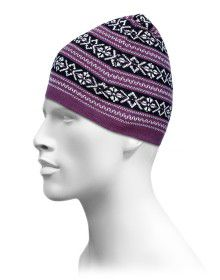 Acrylic Fisher Jacquard Stripe Cap Purple