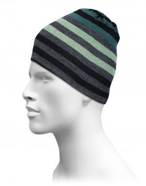 Acrylic Stripes Design Cap For Unisex Green