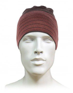 Acrylic Multi Stripes Designer Cap Brown