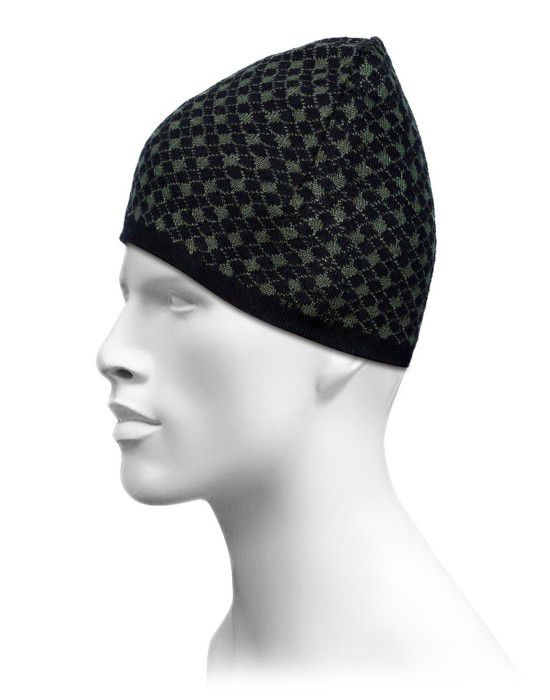Acrylic Chain Design Cap For Unisex Black