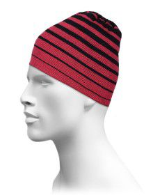 Acrylic Cap Stripes Design Red color