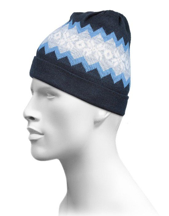 Acrylic Centre Zig Zag Design Cap For Unisex