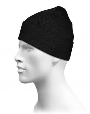 Unisex woolen plain cap for group black