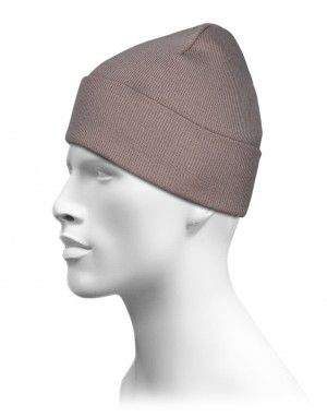 Plain Woolen Cap for Unisex Brown