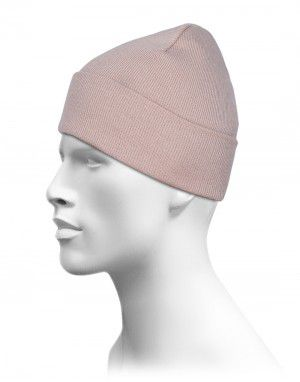 Plain Warm Woollen Cap for Unisex Camel