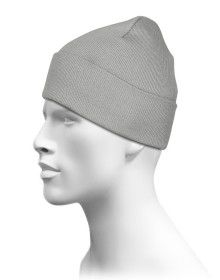 Grey Plain Woollen Cap for Unisex
