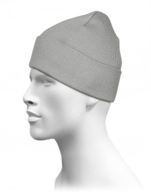 Grey Plain Woollen Cap for Unisex 822a5422cd0
