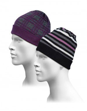 Cap Combo Stripes & Check Design