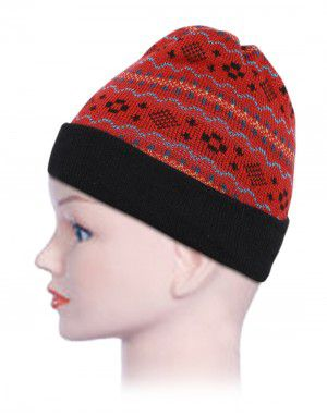 Acrylic Kids Cap Jacquard Girlish