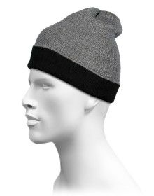 Pure Wool Reversible Selection Cap Grey
