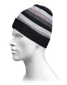 Pure Wool Reversible Stripes Design cap
