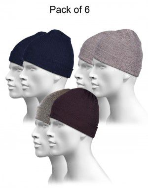 Pure Wool Plain Cap Combo P6
