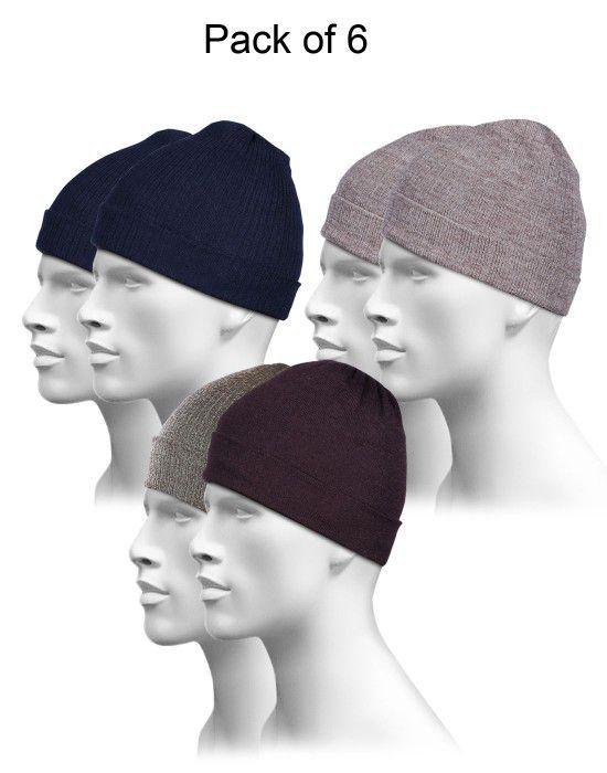 Pure Wool Plain Cap Combo P6