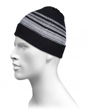 Pure Wool Half Center Dora Cap Black