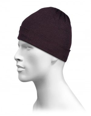 Pure Wool Half Jersey Plain Cap Brown