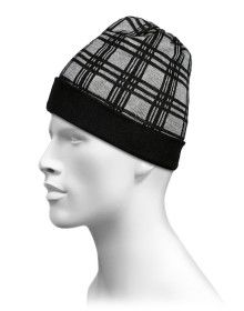 Pure Wool Reversible Cap Unisex Black