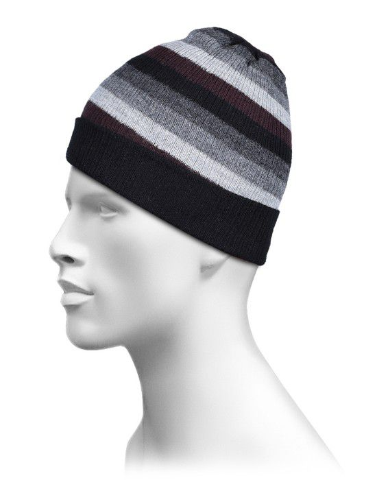 Pure Wool Reversible Stripes 1 Cap