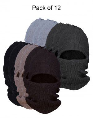 Pure Wool Ribbed Monkey Cap combo P12