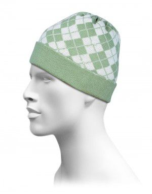 Unisex Acrylic Jacquard All Diamond Cap