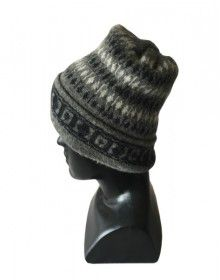 Angora multi design cap dark grey