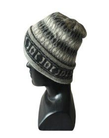 Angora multi design cap grey