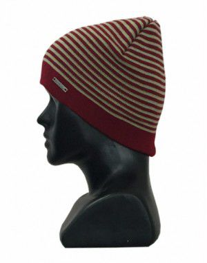 Unisex acrylic stripe design red