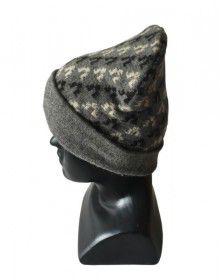 Angora wool designer cap dary grey