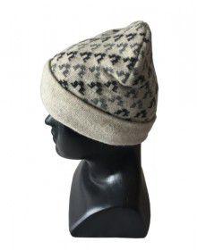 Angora wool designer cap grey