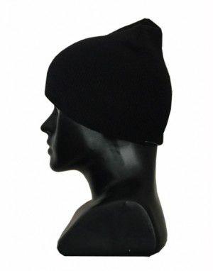 Kids pure wool plain cap black 55c13e07248