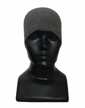 Kids pure wool plain cap grey