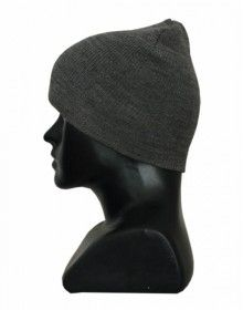 Kids pure wool plain cap grey