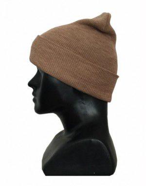 Unisex pure wool plain cap camel