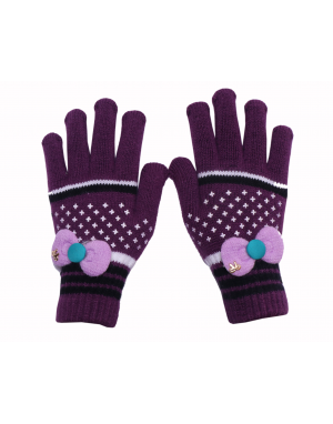 Acrylic Gloves Design ladies purple color