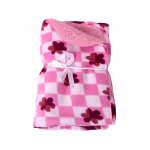 Baby Blanket for Infants Flower  printed pink
