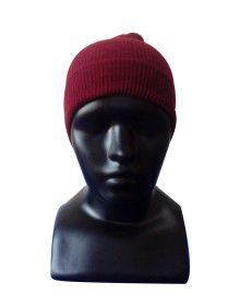 Kids Cap plain maroon