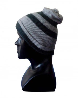 Kids Cap two stripes grey