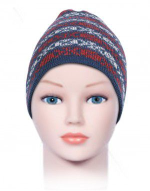 Acrylic Kids Cap Jacquard Stripes