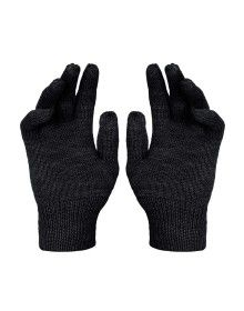 Kids Pure Wool Hand Gloves Plain Dark Grey