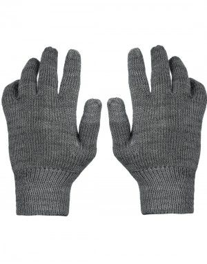 Kids Pure Wool Hand Gloves Plain Grey