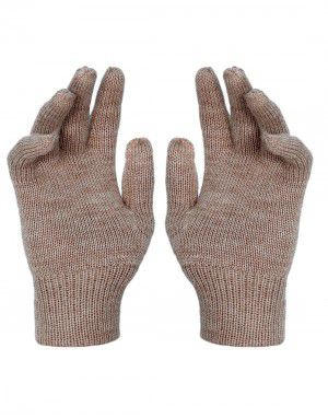 Kids Pure Wool Hand Gloves Plain Skin
