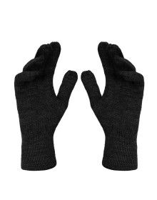 Pure Wool Hand Gloves Plain Black